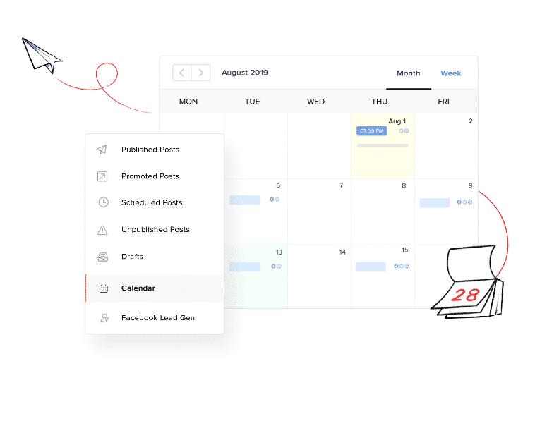 Zoho social - content kalender